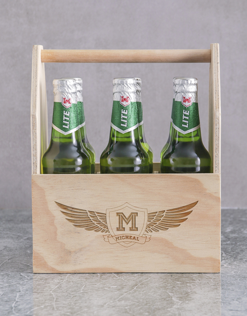 bosses-day: Personalised Wings Heineken Beer Caddy!