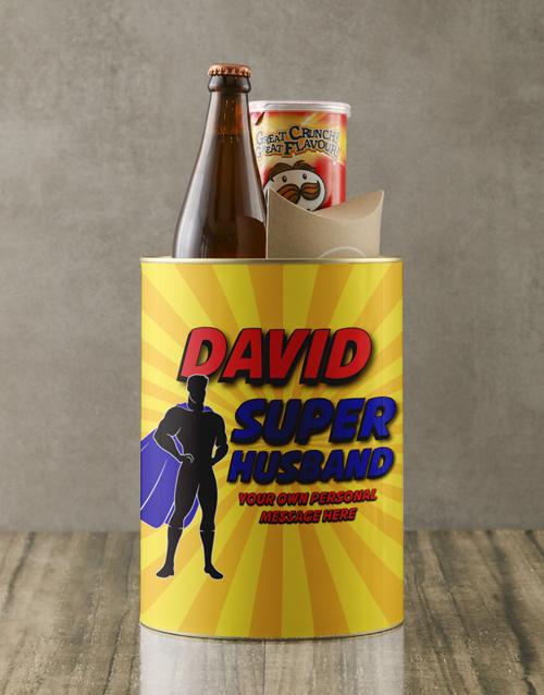gourmet: Personalised Superhero Husband Bro Bucket!