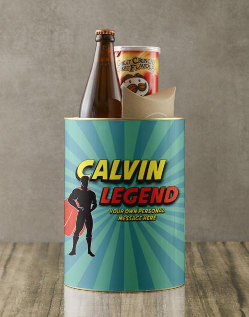 gifts: Personalised Superhero Legend Bro Bucket!