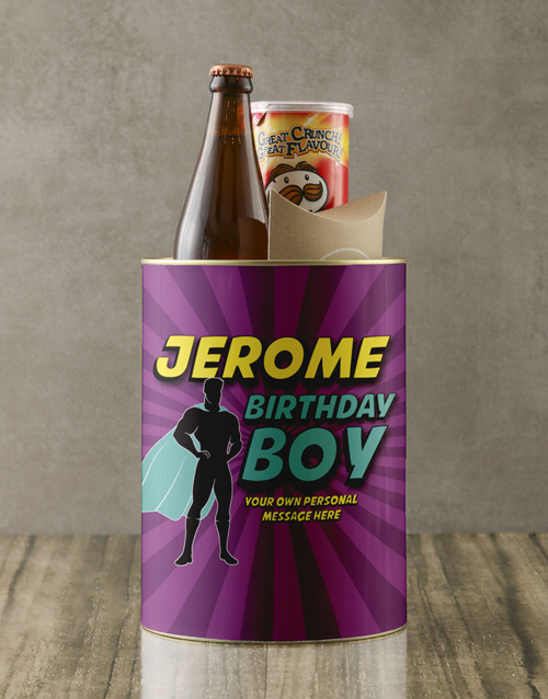 birthday: Personalised Superhero Birthday Boy Bro Bucket!