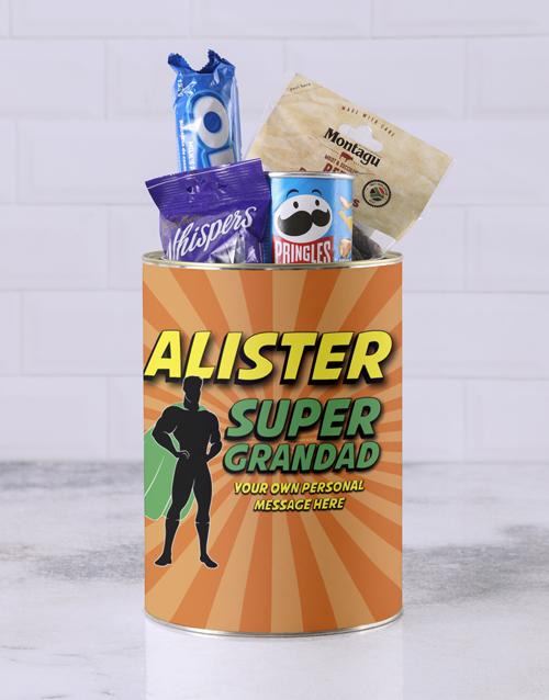 gourmet: Personalised Superhero Grandpa Bro Bucket!