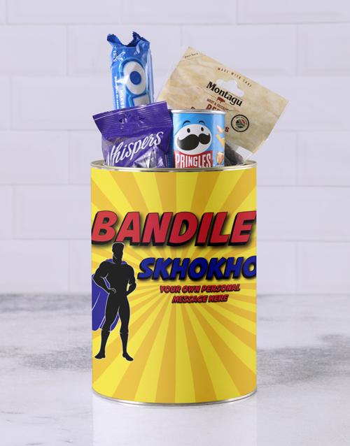gourmet: Personalised Superhero Skhokho Bro Bucket!