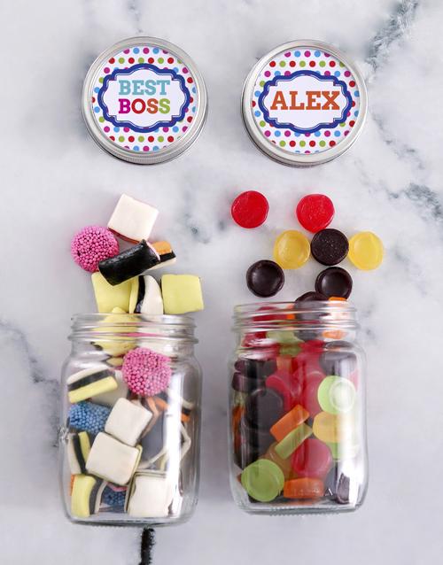 bosses-day: Personalised Boss Day Sweetie Jar Gift Hamper!