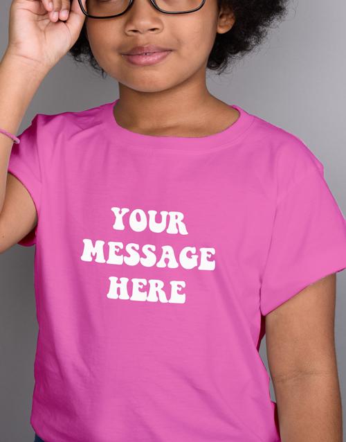 personalised: Personalised Retro Kids Pink T Shirt!