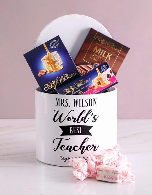 chocolate: Personalised Best Teacher Nougat Box!