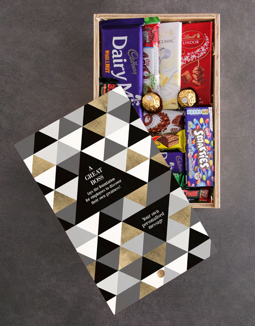 bosses-day: Personalised Great Boss Chocolate Crate!