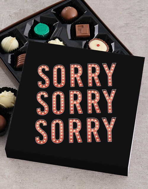 personalised: Personalised Thousand Apologies Chocolate Tray!