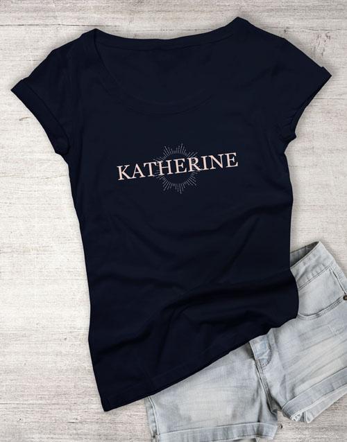 personalised: Personalised Starburst Graphic Ladies T Shirt!