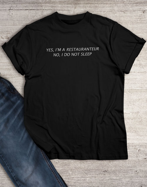 personalised: Personalised Too Busy To Sleep T Shirt!