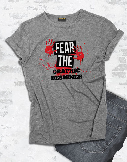 personalised: Personalised Fear Me T Shirt!
