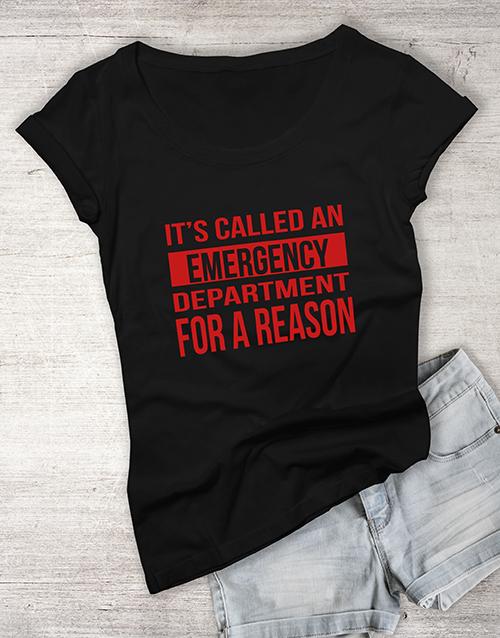 personalised: Personalised Department Ladies T Shirt!
