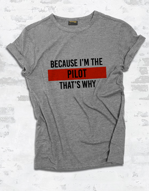 clothing: Personalised Because Ladies T Shirt!