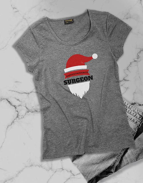 personalised: Personalised Santas Favourite Ladies T Shirt!