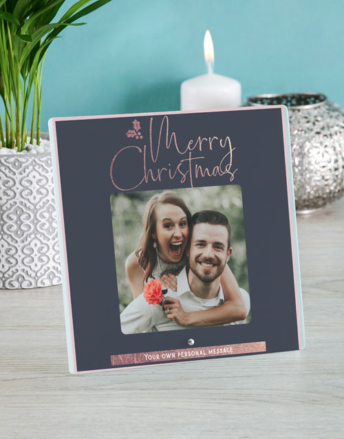 gifts: Personalised Merry Christmas Glass Tile!