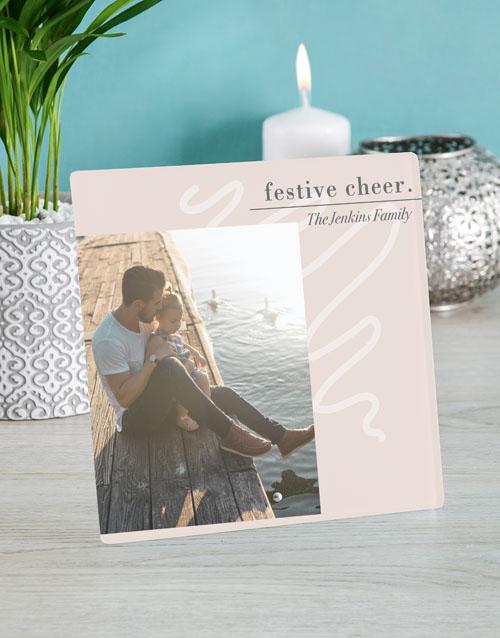 christmas: Personalised Festive Cheer Glass Tile!