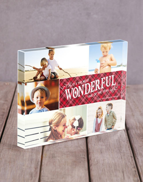 christmas: Personalised Wonderful Acrylic Block !