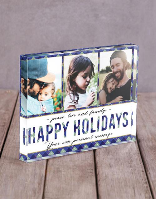 christmas: Personalised Happy Holidays Acrylic Block!
