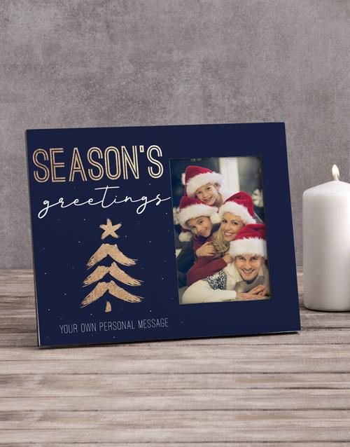 christmas: Personalised Seasons Greetings Photo Frame!
