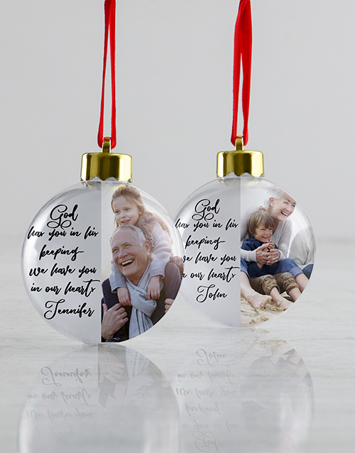 christmas: Personalised In Our Hearts Baubles !