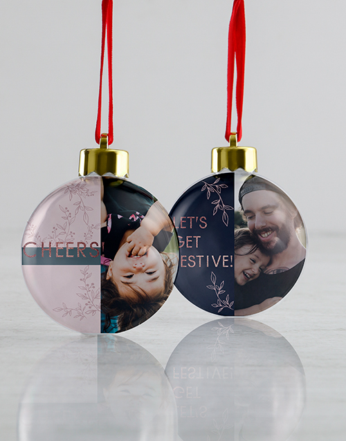 gifts: Personalised Merry And Joy Baubles!