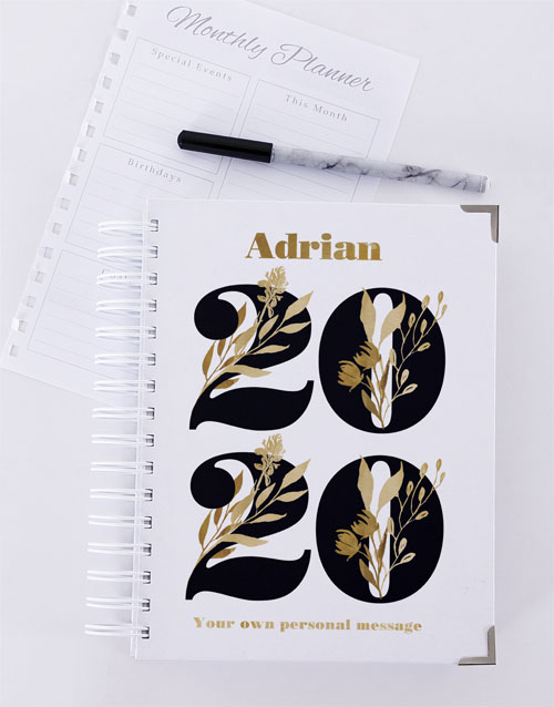 christmas: Personalised Golden Year Diary!