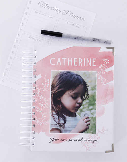christmas: Personalised Pretty Pink Diary!