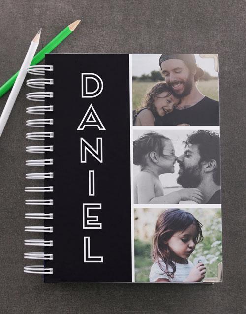 christmas: Personalised Black Photo Trio Diary!