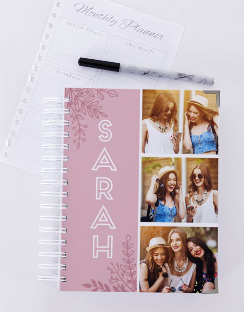stationery: Personalised Pink Photo Trio Diary!