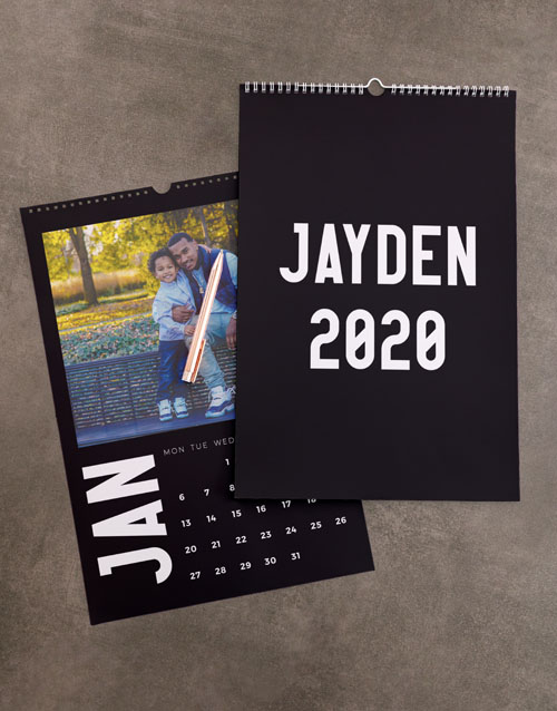 personalised: Personalised Minimalist Photo Wall Calendar!