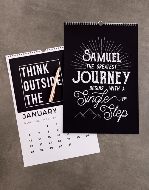 christmas: Personalised Greatest Journey Wall Calendar!