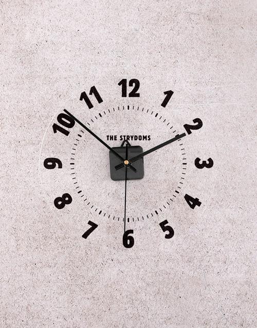 home-decor: Personalised Surname Perspex Clock!