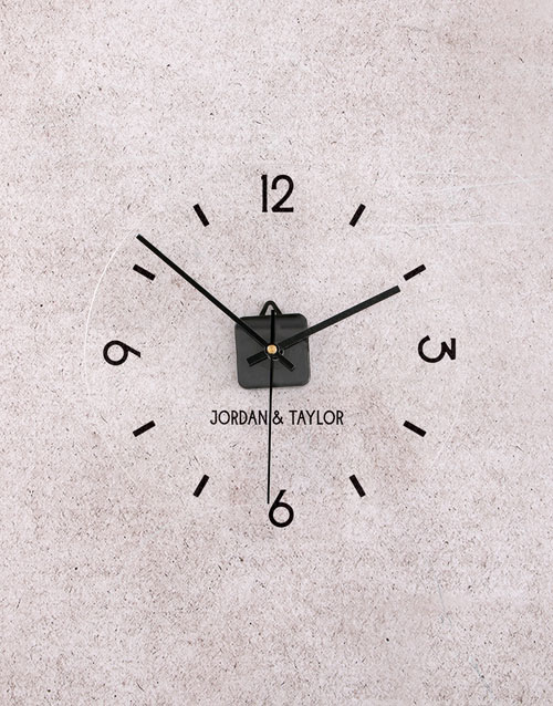 home-decor: Personalised Couple Perspex Clock!