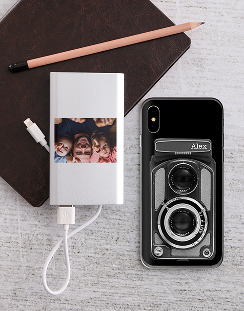 personalised: Personalised Camera iPhone Cover and Powerbank!