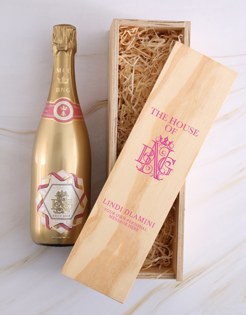 personalised: Personalised House of BNG Brut Rose Crate!