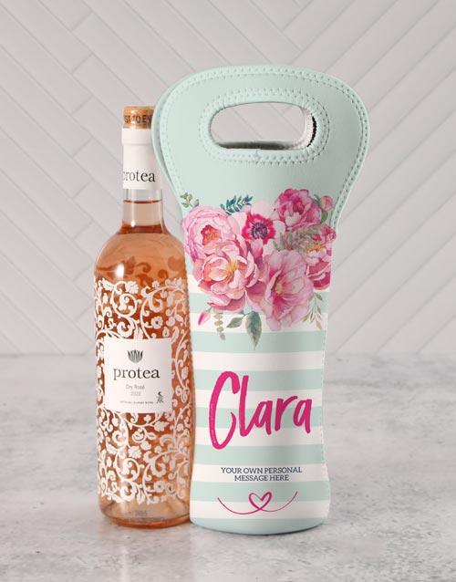 gourmet: Personalised Floral Wine Carrier!