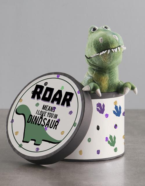 teddy-bears: Personalised Dinosaur Teddy In Hat Box!