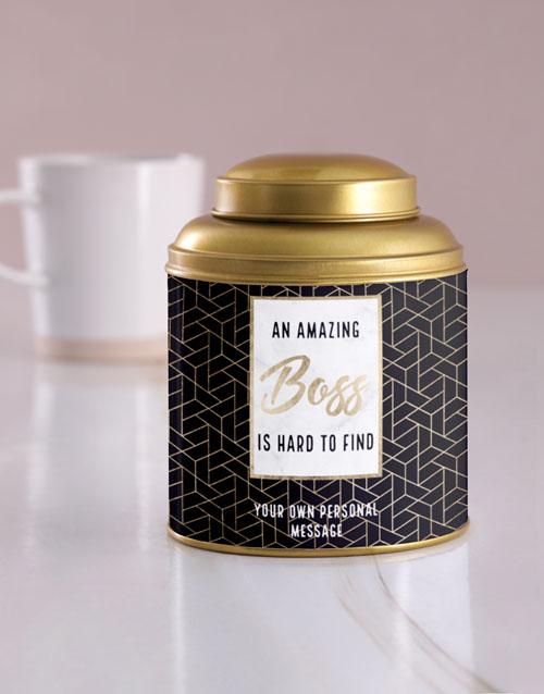 personalised: Personalised Amazing Boss Tea Tin!