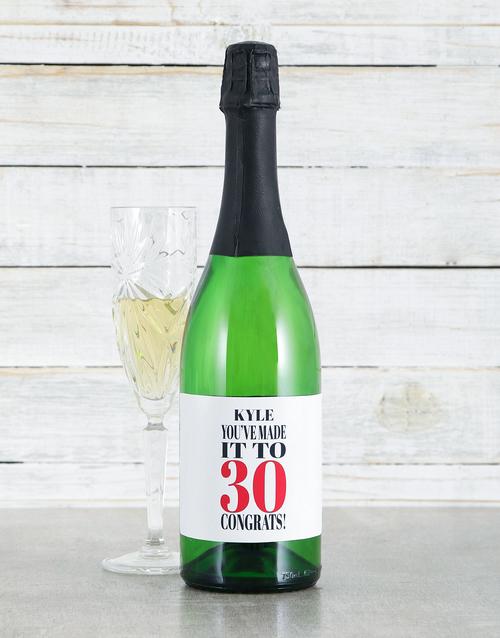 birthday: Personalised Congrats Sparkling Wine!