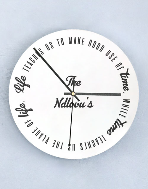 home-decor: Personalised Good Use Of Time Perspex Clock!