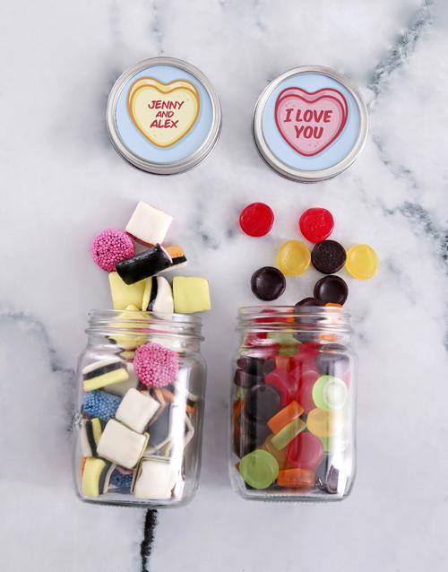 candy-jars: Personalised Romance Sweetie Jar!