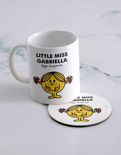 homeware: Personalised Little Miss Sunshine Mug And Coaster!