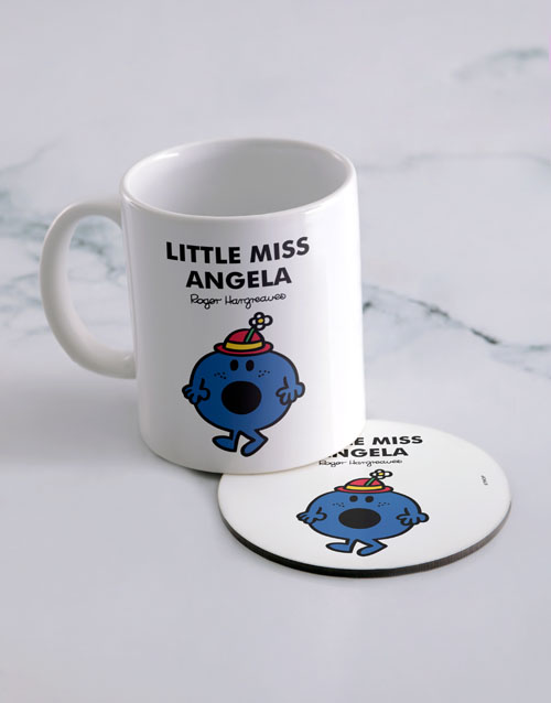 homeware: Personalised Little Miss Bossy Mug And Coaster!