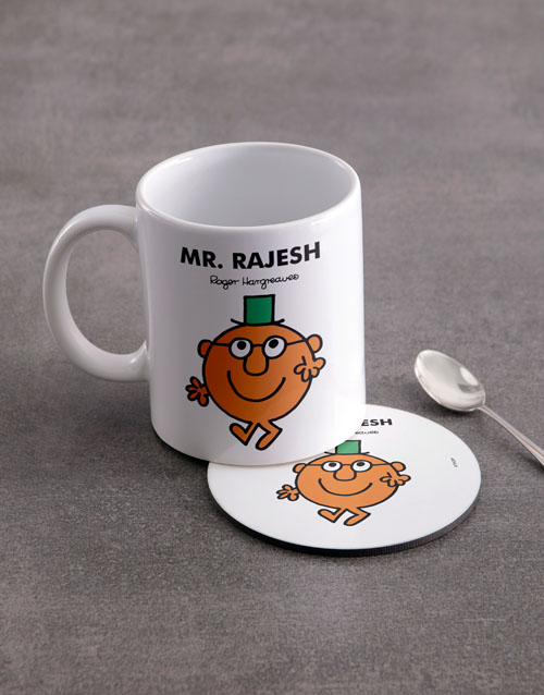 homeware: Personalised Mister Clever Mug And Coaster!