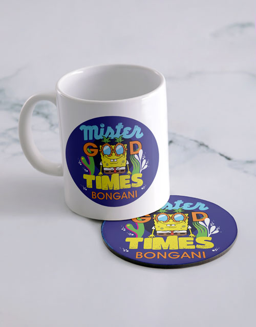 homeware: Personalised Good Times Mug And Coaster!