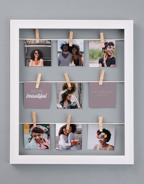 home-decor: Personalised Beautiful Peg Frame !