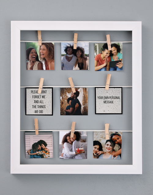 home-decor: Personalised Dont Forget Me Peg Frame !