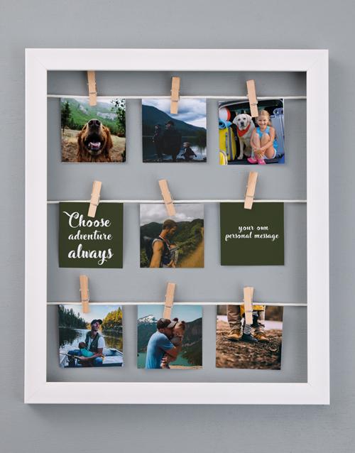 home-decor: Personalised Adventure Peg Frame!