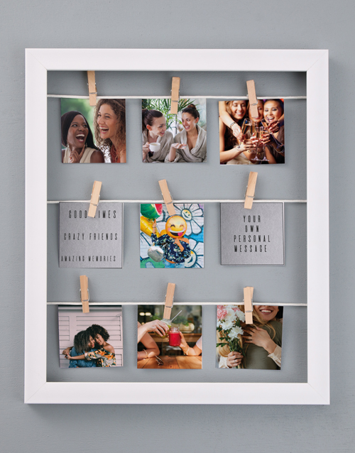home-decor: Personalised Good Times Peg Frame!