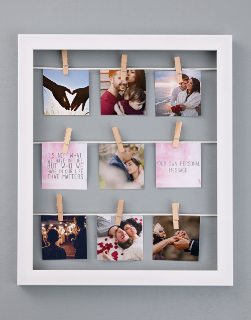 gifts: Personalised Life Peg Frame!