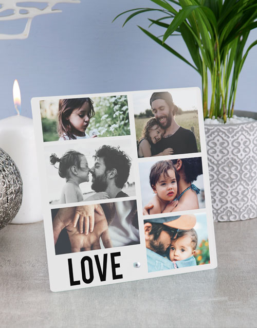 home-decor: Personalised Love Photo Upload Glass Tile!